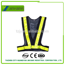 navy / orange cheap mesh pvc tape reflective safety vest